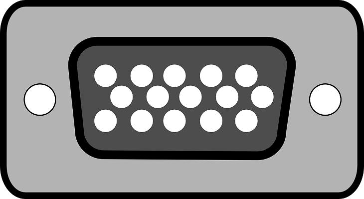 D-subの接続面